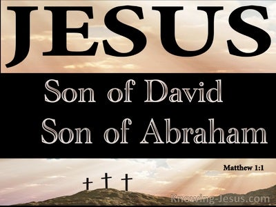 Matthew 1:1 Jesus, Son Of David, Son of Abraham (brown)