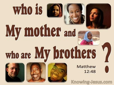 Matthew 12:48  Who Is My Mother And My Bretheren (brown)
