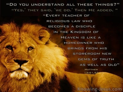 Matthew 13:51 Do You Understand All These Things  (windows)12:09