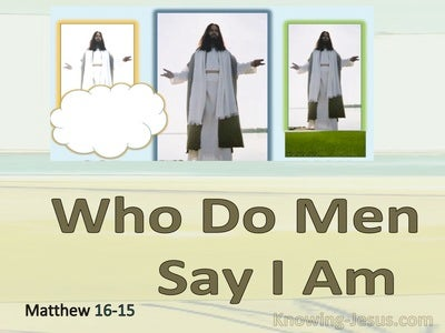 Matthew 16:15 Who Do Man Say I Am (yellow)
