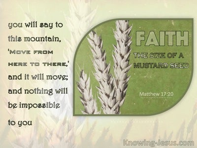 Matthew 17:20 Faith As A Grain Of Mustard Seed (sage)