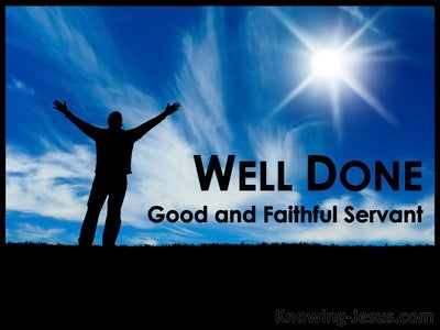 A Faithful Servant (devotional) (blue) - Matthew 25:21
