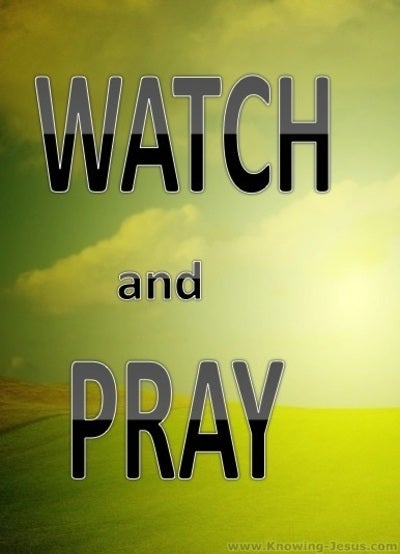 Matthew 26:41 Watch And Pray (yellow)