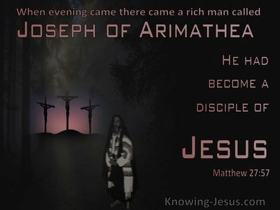 Matthew 27:57 Joseph Of Arimathea Was A Disciple of Jesus (pink)