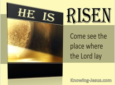 Matthew 28:6 He Is Risen Come See The Place Where The Lord Lay (yellow)