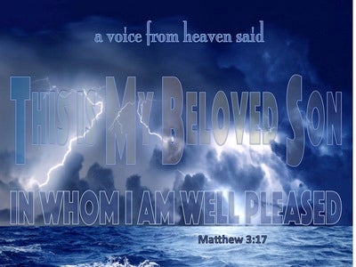 Matthew 3:17 This Is My Beloved Son (blue)