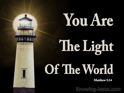 Matthew 5:14 Let Your Light Shine Before Men (black)