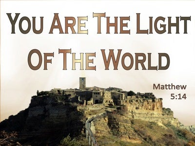 Matthew 5:14 You Are The Light Of The World (beige)