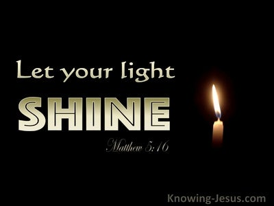 Matthew 5:16 Let Your Light Shine Before Men (gold)