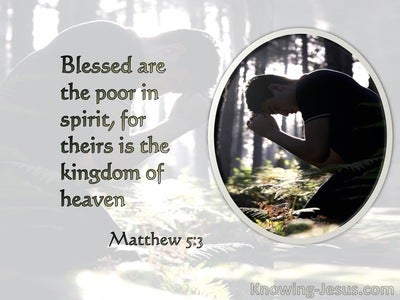 Matthew 5:3 Blessed Are The Poor In Spirit (gray)