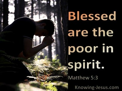 Matthew 5:3 Blessed Are The Poor In Spirit (black) (utmost)08:21