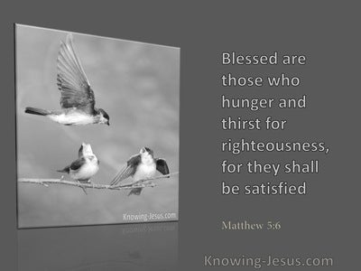 Matthew 5:6 Blessed are Tehy Who Hunger and Thirst (gray)