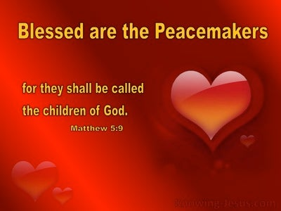 Matthew 5:9 Blessed Are The Peacemakers (yellow)