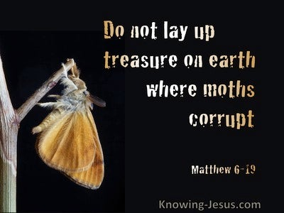 Matthew 6:19 Do Not Lay Up Treasure On Earth (black)
