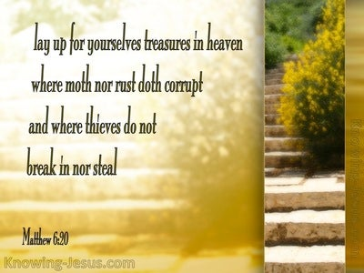 Matthew 6:20 Treasure in Heaven (yellow)