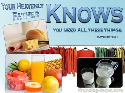 Matthew 6:31 Your Father Knows (blue)