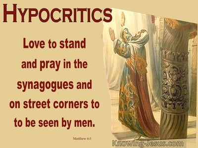 Matthew 6:5 Do Not Be Like The Hypocritics (yellow)