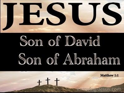 Matthew 1:1 Jesus, Son Of David, Son of Abraham (brown)