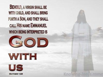 Matthew 1:23 God With Us (devotional)09:08 (gray)
