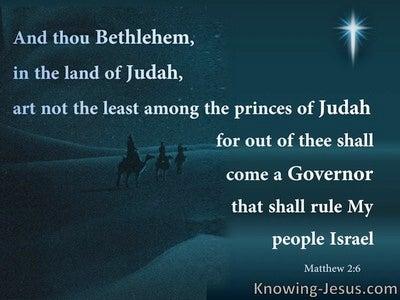 Matthew 2:6 Bethlehem In The Land Of Judah (black)