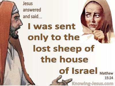 Matthew 15:24 The Lost Sheep Of The House Of Israel (beige)
