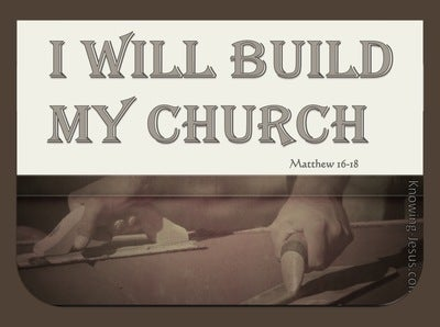 Matthew 16:18 I Will Build My Church (beige)