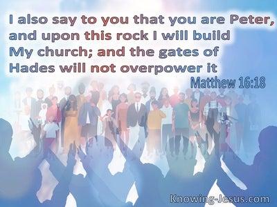 Matthew 16:18 I Will Build My Church (blue)