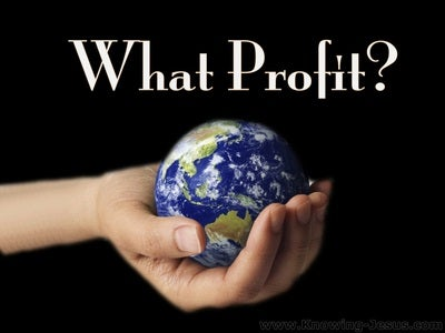 Matthew 16:26 What Profit (black)