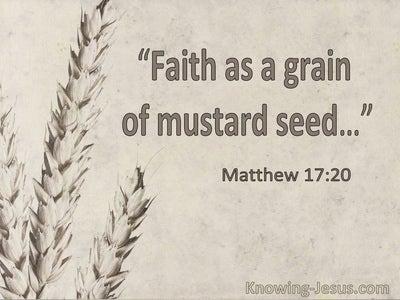 Matthew 17:20 Faith As A Grain Of Mustard Seed (utmost)10:31