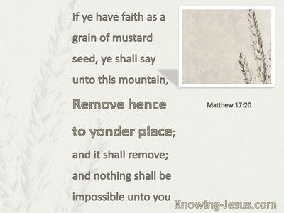 Matthew 17:20 Faith As A Grain Of Mustard Seed (white)