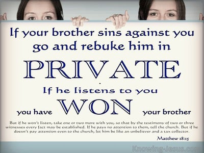 Matthew 18:15 If Your Brother Sins Agains You (blue)