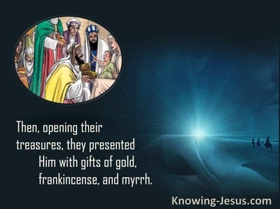Matthew 2:11 They Presented To Him Gifts Of Gold, Frankincense And Myrrh (cream)