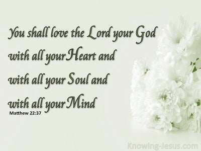 Matthew 22:37 Love The Lord Your God (green)
