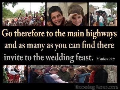 Matthew 22:9 Invitation To The Wedding Feast (black)