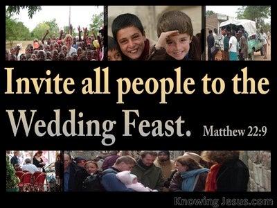 Matthew 22:9 Invitation To The Wedding Feast (gold)