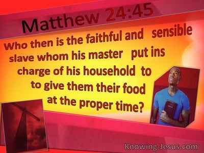 Matthew 24:45 Faithful Servant In Charge Of Household (yellow)