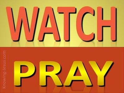 Matthew 26:41 Watch And Pray (red)