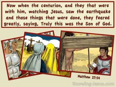 Matthew 27:54 Truly This Was The Son Of God (yellow)