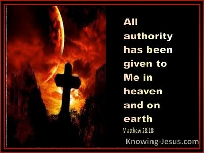 Matthew 28:18 All Authority Has Been Given (orange)