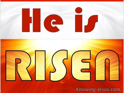 Matthew 28:6 He Is Risen (orange)