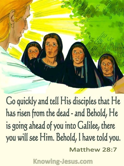 Matthew 28:7 He Has Risen From The Dead (cream)