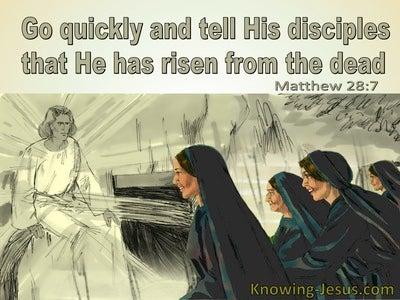 Matthew 28:7 He Has Risen From The Dead (sage)