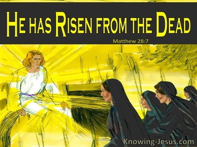 Matthew 28:7 He Has Risen From The Dead (yellow)