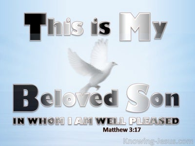 Matthew 3:17 This Is My Beloved Son (white)