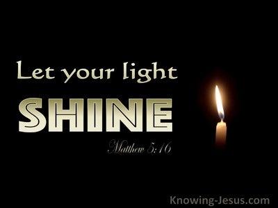 Matthew 5:16 Let Your Light Shine Before Men (gold)