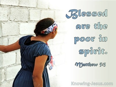 Matthew 5:3 Blessed Are The Poor In Spirit (utmost)07:21