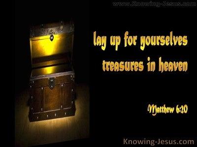 Matthew 6:20 Treasure in Heaven (black)