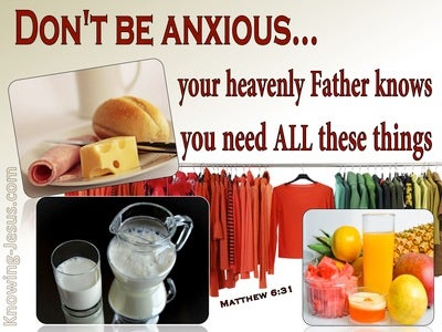 Matthew 6:31 Your Father Knows (red)