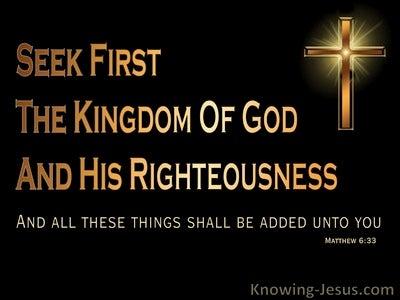 Matthew 6:33 Seek First the Kingdom (gold)