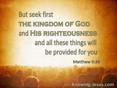 Matthew 6:33 Seek First the Kingdom (beige)